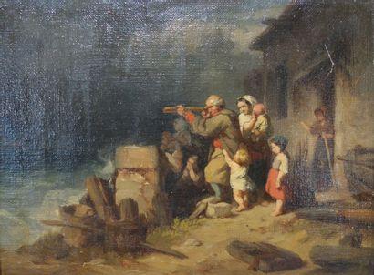 Attribué à Louis Le Poittevin (1847-1909)....