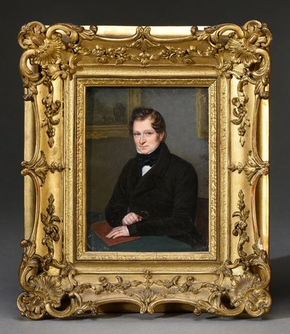Flavien Emmanuel CHABANNE (1799-1865).  Portrait...