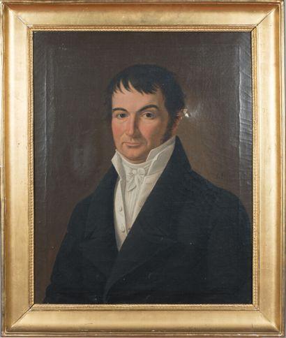 LEFEBURE (XIXème siècle)  Portrait d'Homme,...