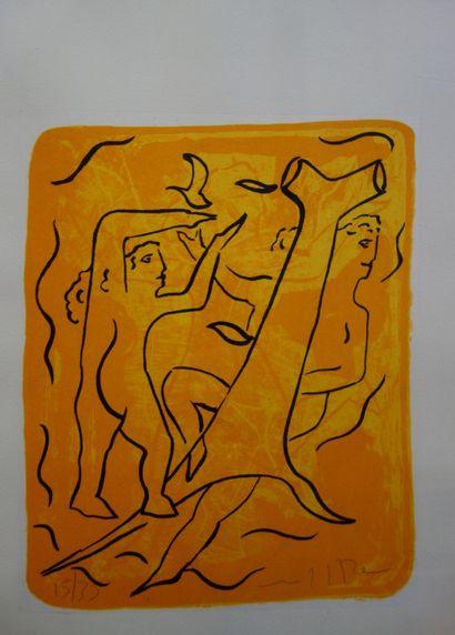 Marco del RE (né en 1950)  Arcadie.  Lithographie...