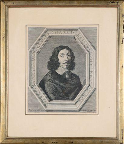 Jean MORIN (1605 - 1650)  Portrait de Pierre...