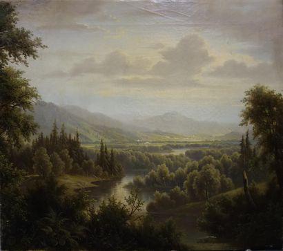 Josef Burgaritzky (1836-1890).  Paysage....