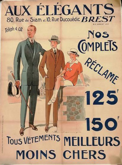 [Publicité - Mode masculine]  Aux élégants...