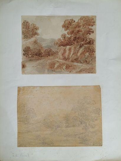 Attribué à Hector Allemand (1809-1886).  Trois...