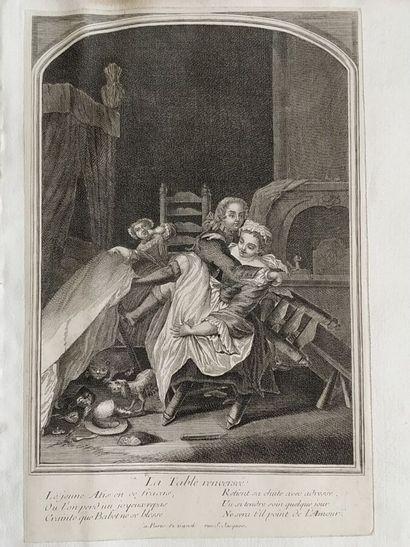 Ecole française du XVIIIe siècle  La table...