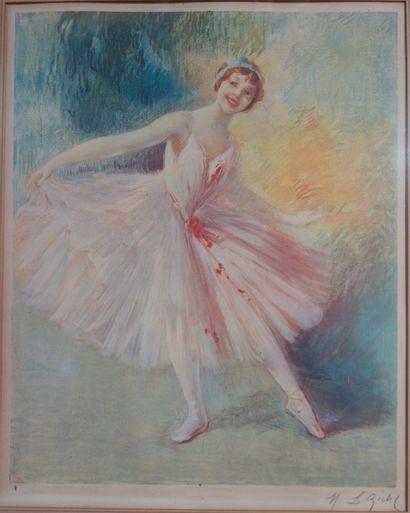 Henri Le Riche - HIRNÉ (1868-1944)  Danseuse...