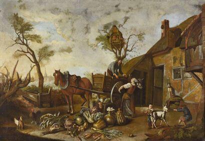 ECOLE HOLLANDAISE (Dans le Goût du XVIIème...