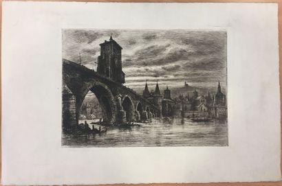 Joannès DREVET (1854-1940).  L'ancien pont...