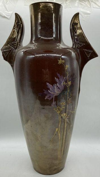 Clément MASSIER (1844-1917)  Important vase...