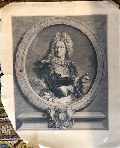 Trois gravures représentant le Comte de Toulouse...