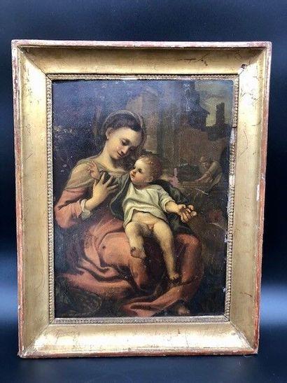 La Sainte Famille, Joseph représenté en charpentier....