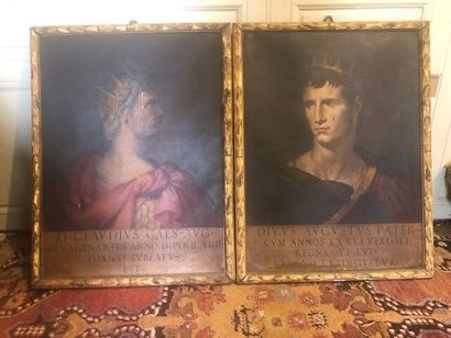 Portraits des empereurs Claudius et Augustus....
