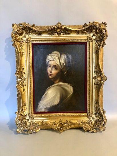 D'après Guido Reni.  Portrait de Béatrice...