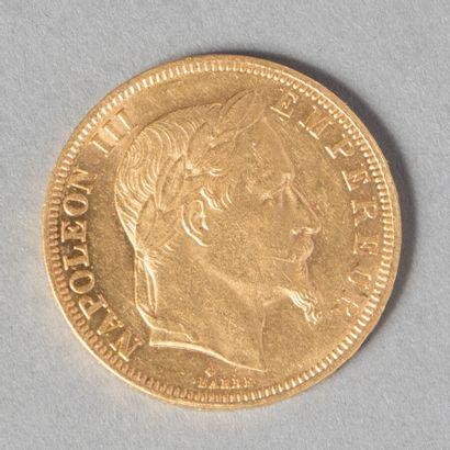 NAPOLEON III  50 F laurée 1866 BB 17307 ex...