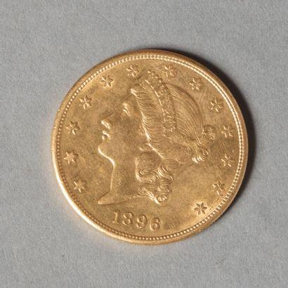 USA  20 DOLLARS 1896 S  33 gr 43  TTB+