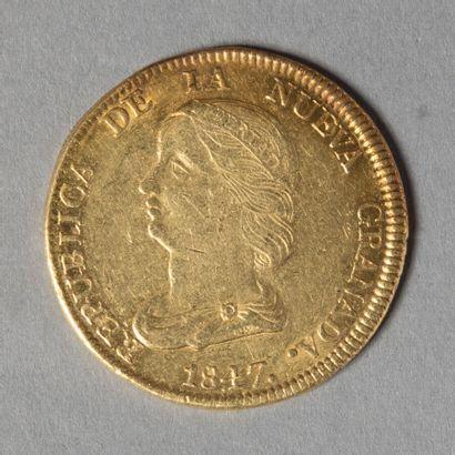 COLOMBIE  16 PESOS 1847 BOGOTA  26 gr 89...