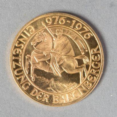 AUTRICHE  1000 SCHILLING 1976 en OR jaune...