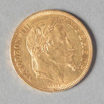 NAPOLEON III  50 F laurée 1868, 11671 ex...