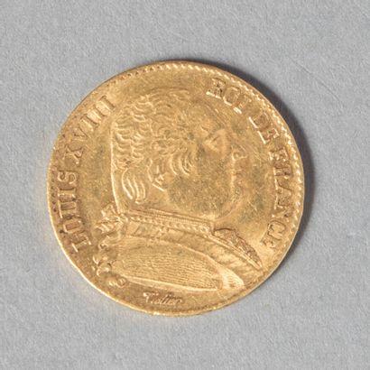 LOUIS XVIII  20 F 1814 A  6 gr 45  G 1026...