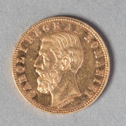ROUMANIE  CAROL I ER : 20 LEI 1890 B  6 gr...