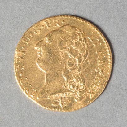 LOUI XVI  LOUIS AU BUSTE NU 1786 D (Lyon)...