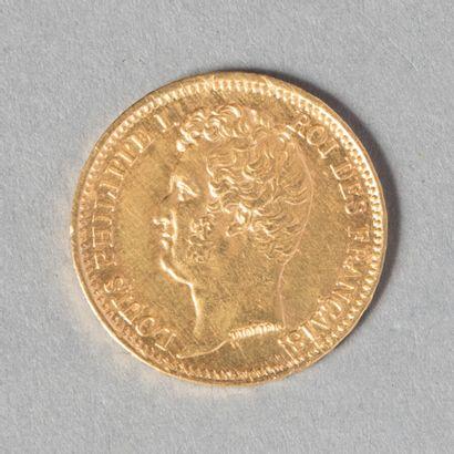 LOUIS PHILIPPE  20 F 1831 A tranche en relief...