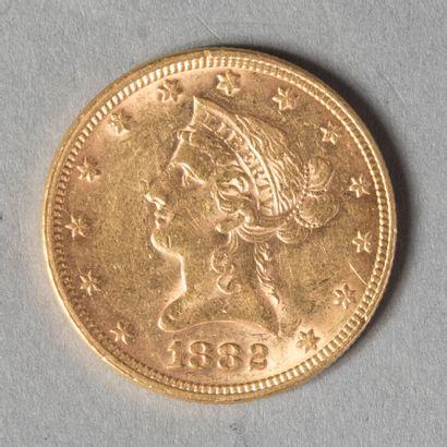 USA  10 DOLLARS 1882  16 gr 73  TTB