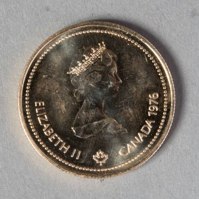 CANADA  100 $ 1976 proof or à 583°/°°  13gr30...
