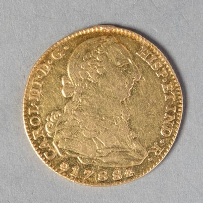 ESPAGNE  CHARLES III 4 ESCUDOS 1788 MADRID...