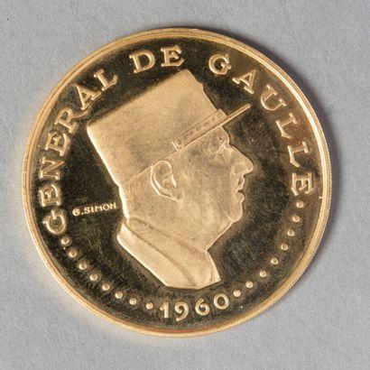 TCHAD  10000 FRANCS 1960 à l'effigie du général...