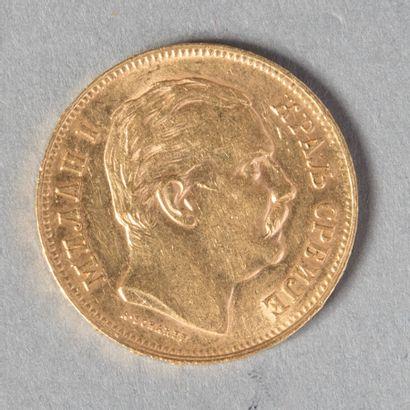 SERBIE  MILAN IV : 20 DINARS 1882  6 gr 43...