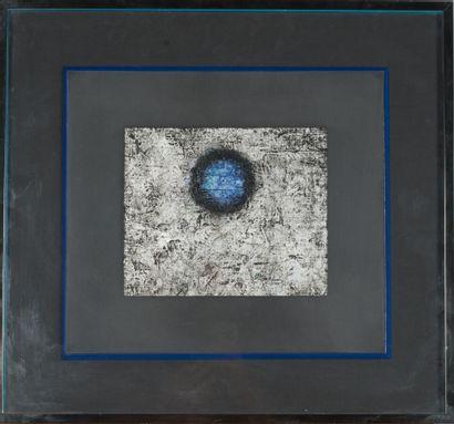 Pierre JACQUEMON (1936-2002).  Sans titre, 1986.  Huile sur toile.  Signé et dédicacé...