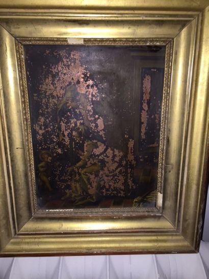 Une huile sur cuivre, XVIIIème. Présenta...