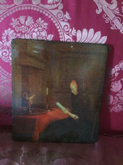 Scène d'intérieur, femme à la lecture