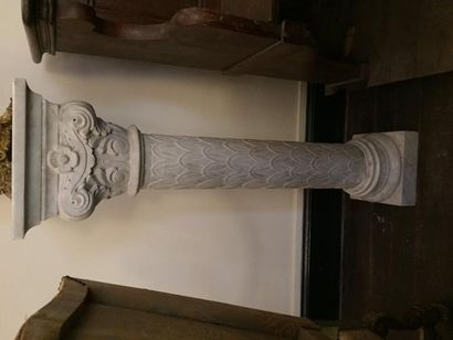 Importante paire de colonnes en marbre dans...