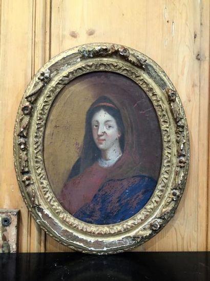 Ecole française, portrait de Sainte Femme,...