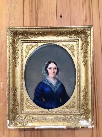 Portrait de «Madame de Pouffier» en robe...