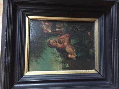 Ecole italienne?, Vierge à l'Enfant, huile...