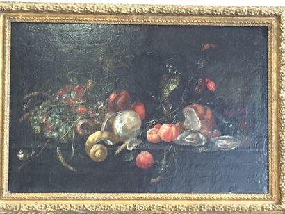 Ecole hollandaise du XVIIème siècle.  Nature...