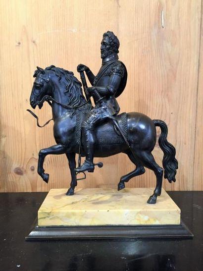 Henri IV, statue équestre, bronze patiné...