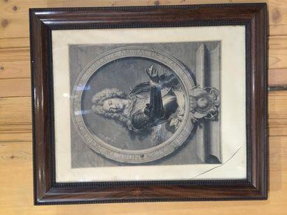Trois gravures encadrées, Comte de Toulouse...