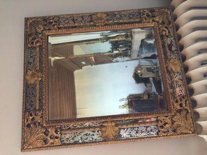 Grand miroir à parecloses, profil inversé,...