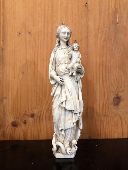 Flandres, Vierge à l'Enfant terrassant le...