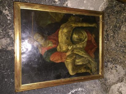 Piéta, huile sur cuivre.  XVIIème siècle....