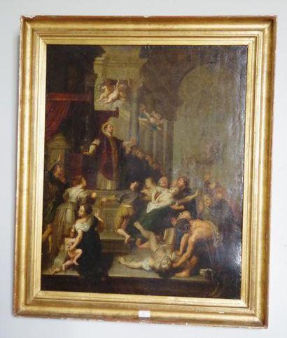 Ecole du Nord, Saint Ignace de Loyola, huile...