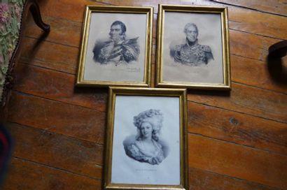 Trois lithographies, le Duc de Berry, Charles...