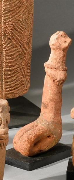 Statuette Bankoni, Mali Terre-cuite à engobe...