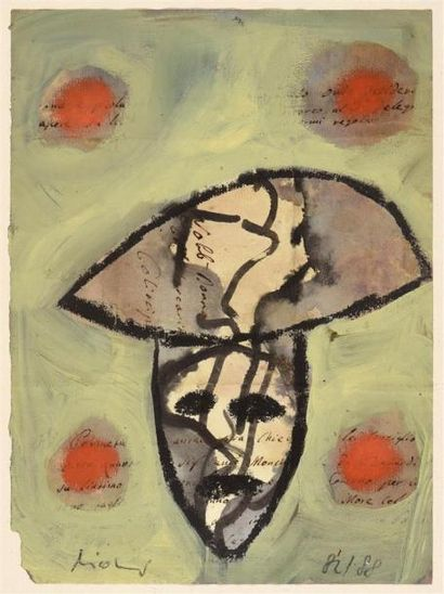 Henrich Nicolaus (né en 1955) Visage, 1982-1983...