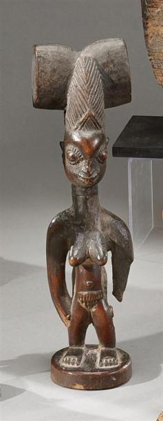 Statuette féminine Shango Yorouba, Nigeria...