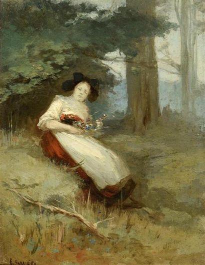 Eugène Carrière (1849-1906) Femme assise...